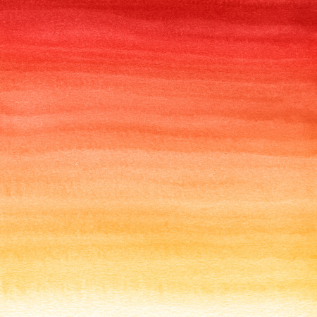 Abstract watercolor hand painted background. Autumn gradient from red to yellow color. Banco de Imagens - 66899713