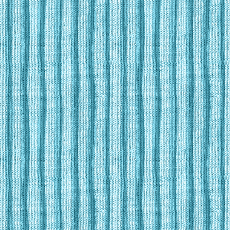Seamless monochrome canvas paper background. Endless fabric pattern. Striped texture in blue colors.
