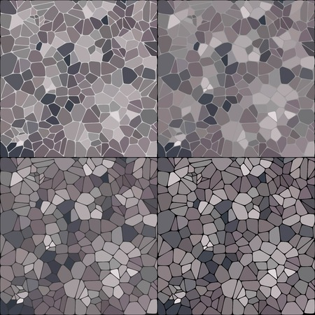 Set of gray pebbles. Vector layout - Vektorgrafik. abstract vec tor background