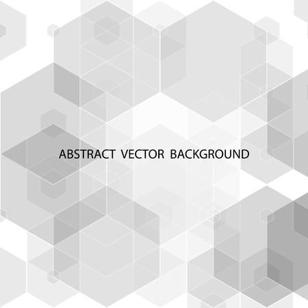 gray hexagons. abstract vector background. presentation template eps 10