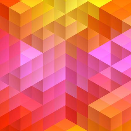 cubos de colores. maquetación para la presentación. estilo mosaico, eps 10 Ilustración de vector