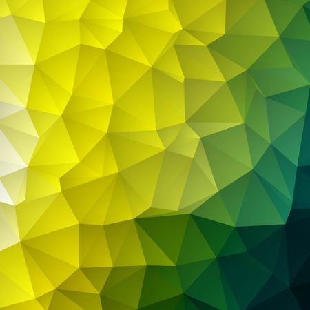 Dark Green, Yellow vector low poly cover. A completely new color illustration in a vague style. The best triangular design for your business. eps 10