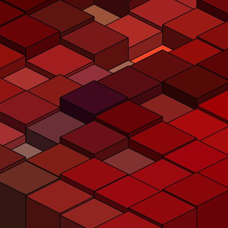 geometric figures. red squares. vector abstract illustration