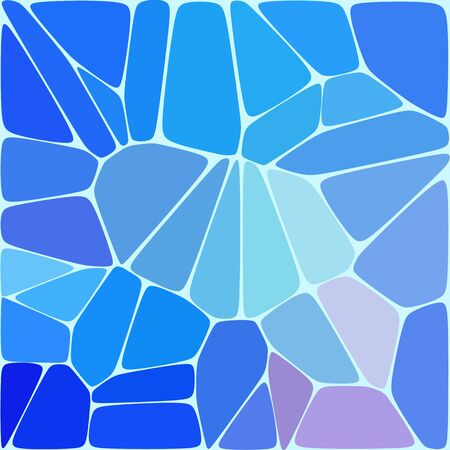 Abstract vector image. blue pebbles background