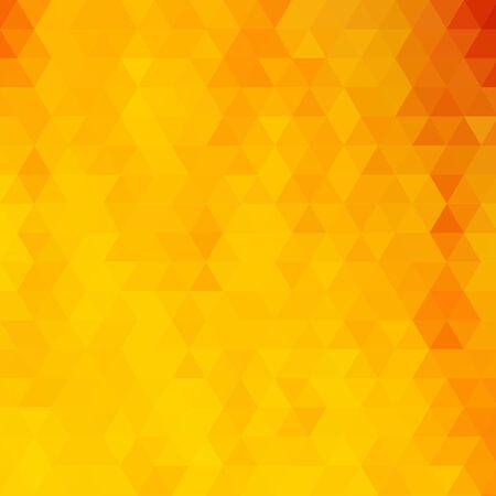 Fondo triangular amarillo brillante. ilustración vectorial abstracta. eps 10 Ilustración de vector