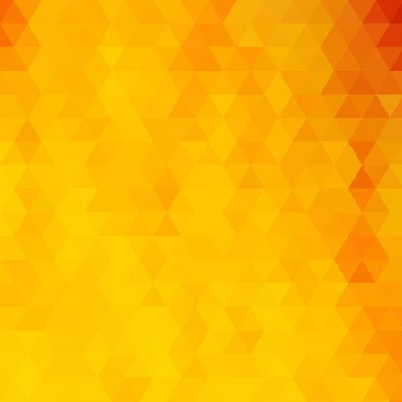 Sfondo triangolare giallo brillante. illustrazione vettoriale astratta. eps 10 Vettoriali