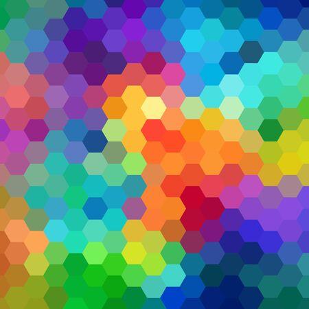 Abstracte zeshoek kleurrijke achtergrond. Vector. eps 10
