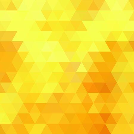 disegno di triangoli gialli. Fondo astratto di vettore. eps 10