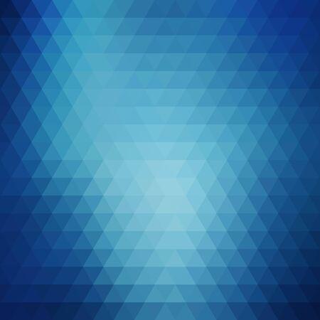 blauwe driehoeken. lay-out voor reclame. achtergrond bedekken. presentatie sjabloon. eps 10