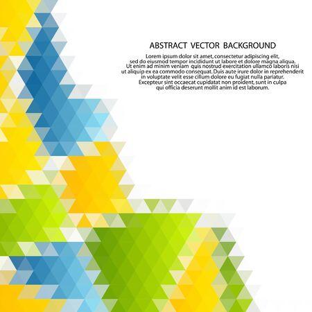 Vector de fondo triangular de color abstracto moderno. Ilustración de vector
