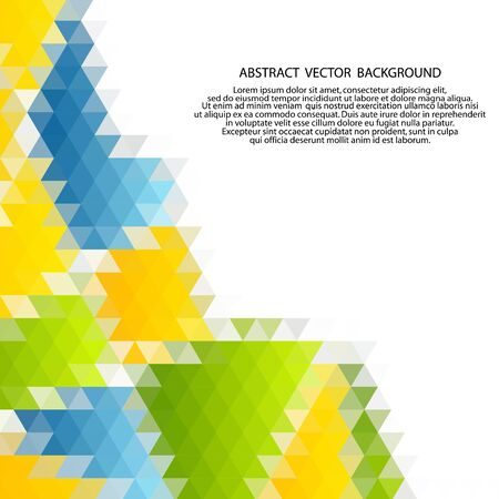 Vector of modern abstract color triangular background. Vetores