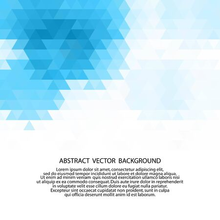 Abstract texture geometric white and blue with space modern design on Light blue background.