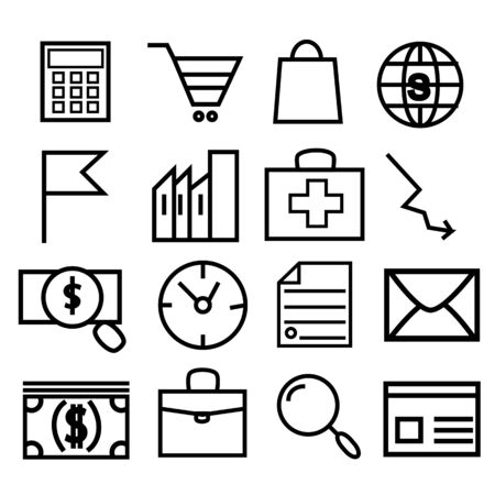 Set vector line icons, sign and symbols in flat design medicine and health with elements for mobile concepts and web apps.Media and communication icons Collection modern infographic
