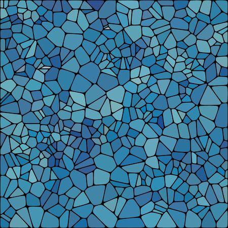 Stone slab paving model. Abstract geometric colorful shape ornament vector texture. blue pebbles. Illustration