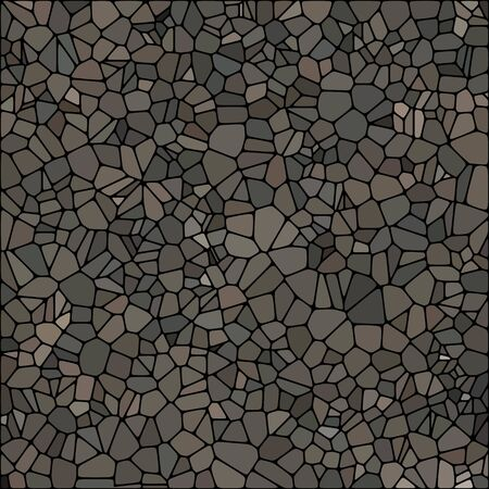 Abstract vector pattern of pebbles. Mosaic. Isolated from the background. Monochrome. eps 10