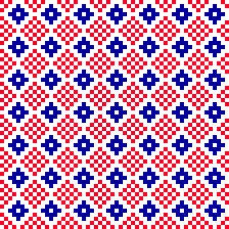 embroidery seamless pixel scheme. textiles, fashion.