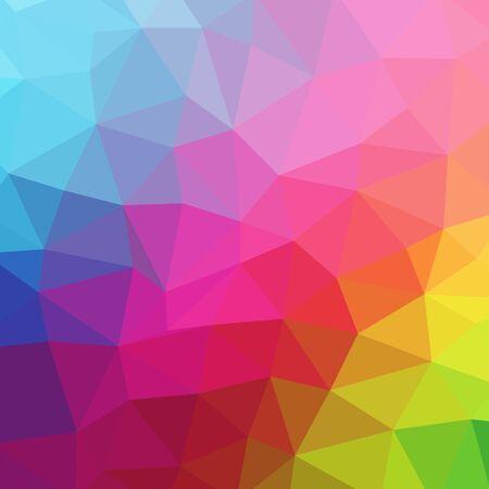 abstraktes farbiges geometrisches Design. Vektor Dreieck Hintergrund Vektorgrafik
