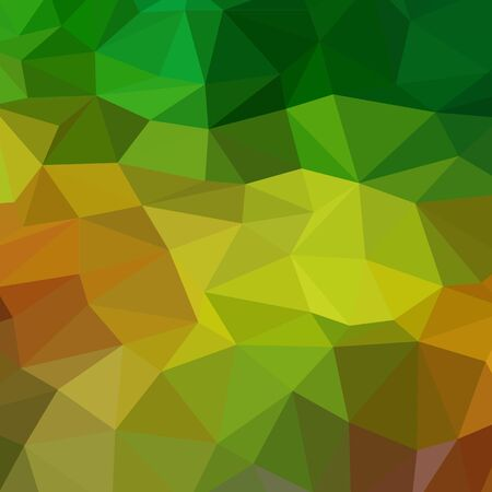 yellow, Green vector triangle mosaic background. A completely new color illustration in a vague style. A completely new design for your business.