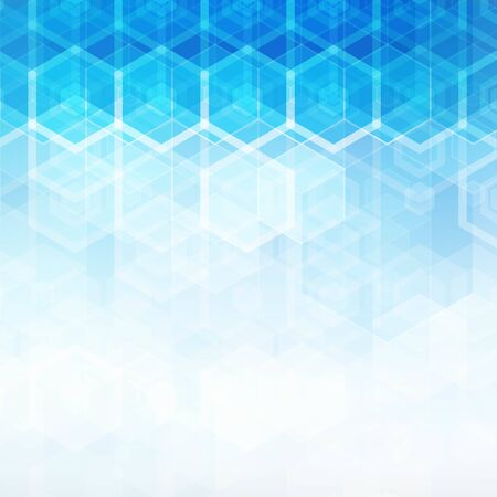 Blue geometric abstract double triangle background template.