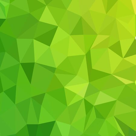 Vector illustration of green mosaic .