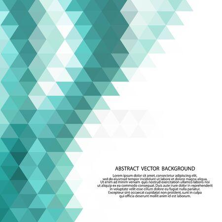 Fondo abstracto de baja poli de triángulos en colores azules. Ilustración de vector