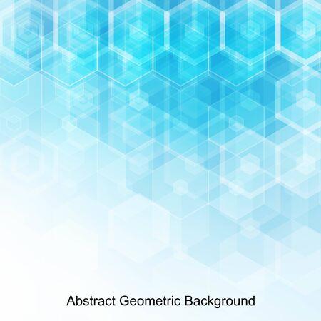 Abstrakte blaue Sechsecke. Hintergrund für die Präsentation. Vorlage für die Werbung. polygonaler Stil