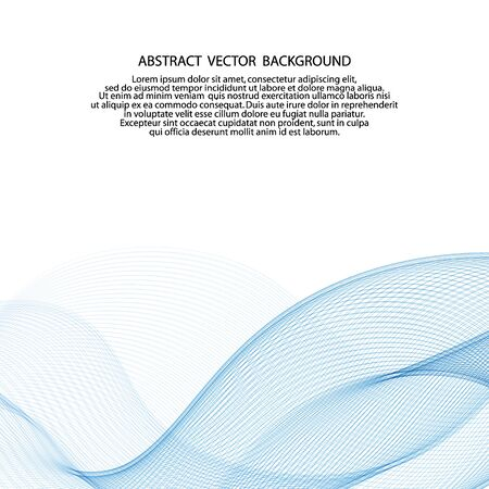 hellblaue Vektorwelle. abstrakter Hintergrund