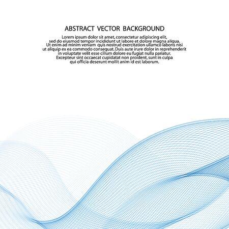 vague de vecteur bleu clair. abstrait