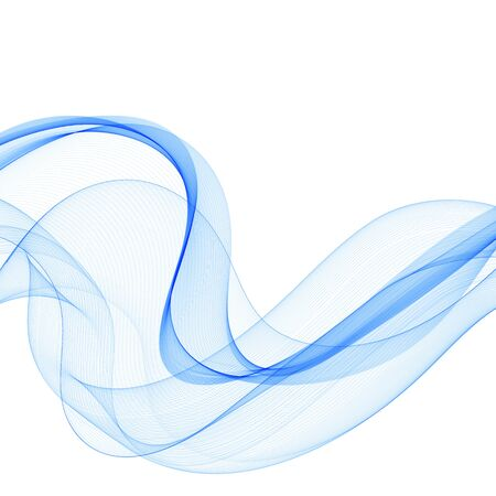 Abstract vector background, transparent wavy lines for brochure, website, flyer design. Blue smoky wave. eps 10