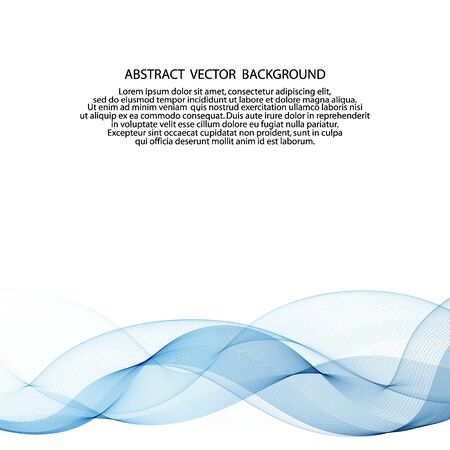 Abstract blue wave background.Flow of fluid on white background.
