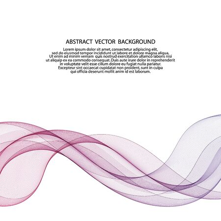 Abstract colorful wave. vector background template. Vector Illustration
