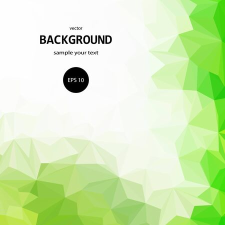 Vector background. pattern with green abstract triangles Stock Photo