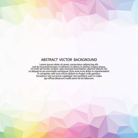 Colorful design template for presentation, layout for advertising, banner. Abstract background. Vector graphics. Polygonal style. Triangular design