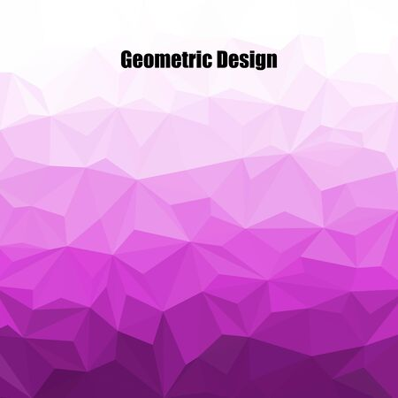 Abstract purple triangular background. Vector graphics