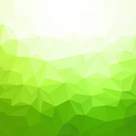 Green triangles. Abstract background Pattern design