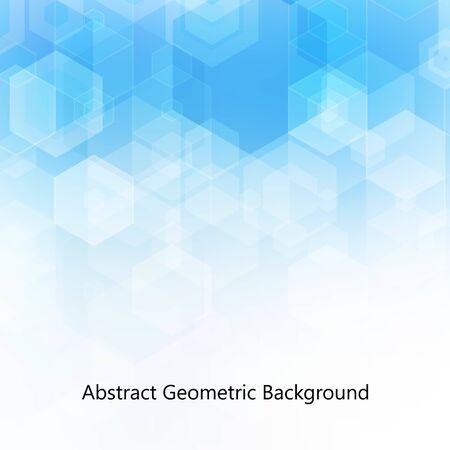 Hexagon blue background. Abstract template for presentation, flyer design. m aket for banner, certificate Vector Illustration