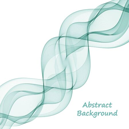 stylish blue wave on a white background. Design element