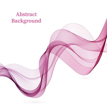 Purple wavy transparent lines. Background wave