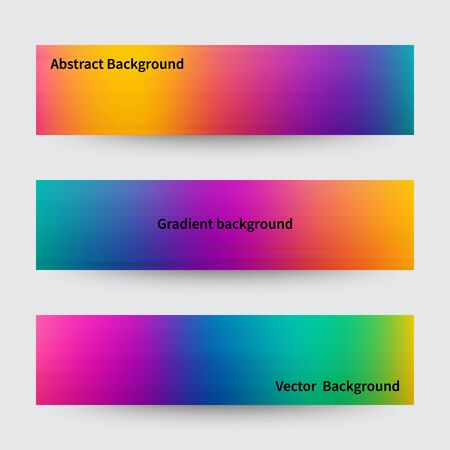 Abstract pink, teal, purple and green blur color gradient backgrounds for web, presentations and prints. Vector illustration. Vector Illustratie