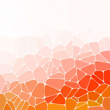 pebbles. colored background. abstract illustration. layout for the presentation. polygonal style. Orange color