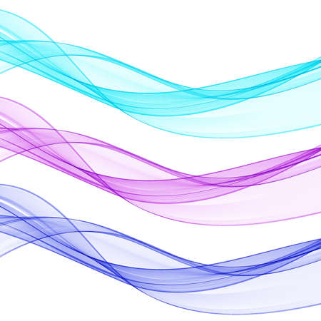 Colored abstract waves. Banner layout. Presentation template. Set of waves