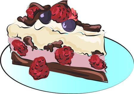 Chocolate cake for birthdays and holidays,decorated with blackberries