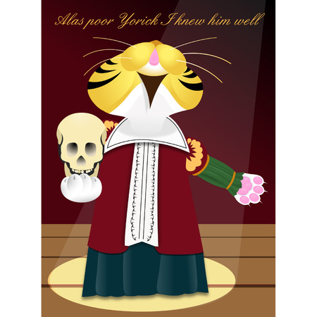 stage costume: Hamlet Illustration