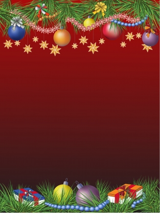 Christmas theme decorated card with space for text. Stock Vector - 16662399