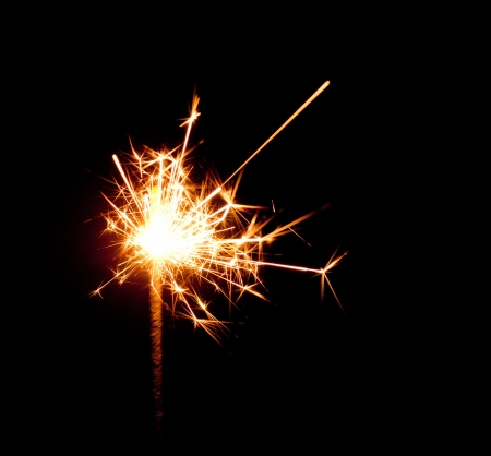 Photo of bengal light sparkling in the dark Stock Photo - 17181886