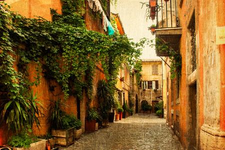 側面通りの写真ビンテージ スタイルで作られてイタリアのローマ