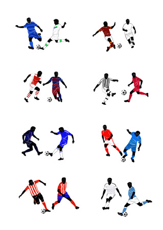 football tackle: European football clubs Illustration