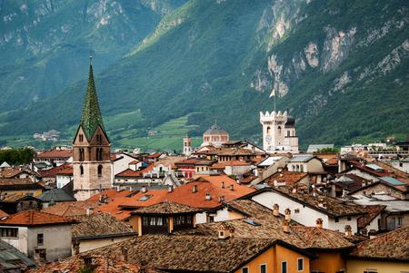 Roofs of Trento, Italy Stock Photo