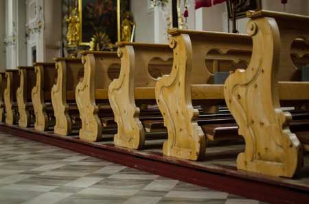 Branches of Cathedral of Matrei am Brenner. Austria. Stock Photo