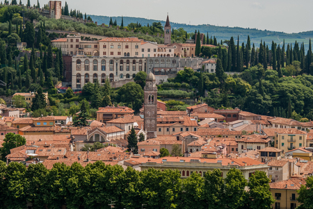 urban landscapes: Panoramic view on Verona. Italy